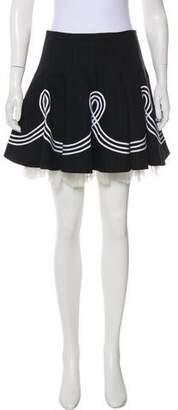 Alexander McQueen Embroidered Mini Skirt