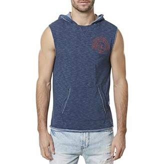Buffalo David Bitton Men's Kiphew Pullover Hooded Sleeveless Knit Shirt