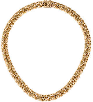 Tiffany & Co. 14K Spiral Link Collar Necklace $3,950 thestylecure.com