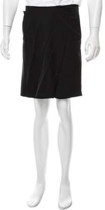 Givenchy Draped Knee-Length Shorts