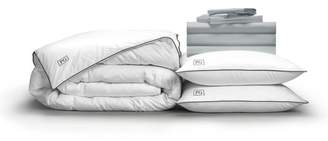 Pillow Guy Full Classic Cool & Crisp Perfect White Goose Down Bedding Set - Light Grey