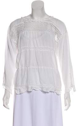 Etoile Isabel Marant Mesh-Accented Long Sleeve Top