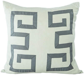 One Kings Lane Vintage Blue Greek Key Pillow - Madcap Cottage