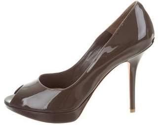 Christian Dior Patent Leather Platform Pumps