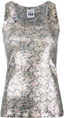 Twin-Set metallic floral vest $162.68 thestylecure.com