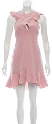 Rachel Zoe Plunging Neckline Knee-Length Dress