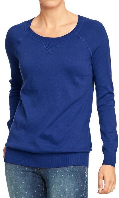 Old Navy Women's Crew-Neck Raglan-Sleeve Sweaters