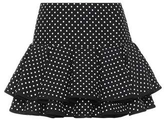 Polka-dot wool and silk miniskirt
