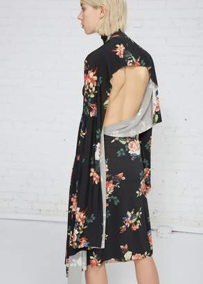 Vetements Floral Print Panel Dress
