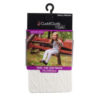Cuddl Duds Girls 7-16 Diamond Cable Knit Textured Tights
