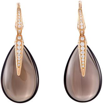 Chimento 18K Rose Gold 0.98 Ct. Tw. Diamond & Smoky Quartz Earrings