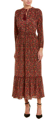 The Kooples Floral Silk Maxi Dress