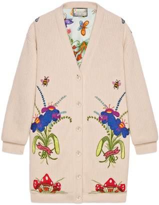Gucci Unskilled Worker wool cardigan