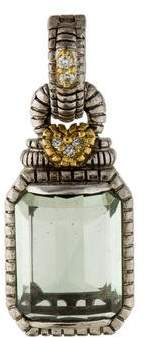 Judith Ripka Two-Tone Prasiolite & Diamond Pendant