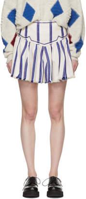 Etoile Isabel Marant White Striped Delia Skirt