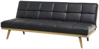 Abbyson Living Carter Black Leather Sofa Bed