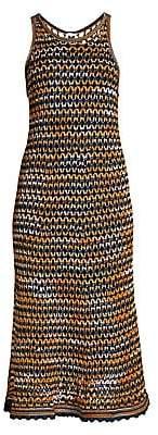 M Missoni Women's Sleeveless Crochet Wool-Blend Midi Dress