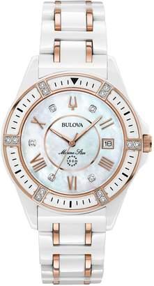 33d80e73b866 Bulova Women s Ceramic Rosetone Marine Star Diamond Watch