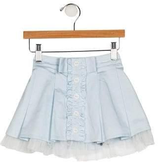 Blumarine Girls' Pleated Flared Skirt w/ Tags
