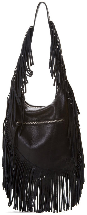 Linea Pelle Janis Fringe Shoulder Bag