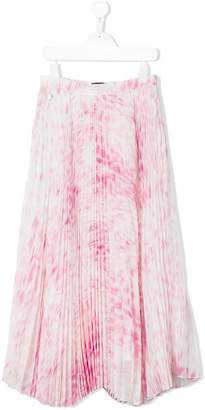 Roberto Cavalli printed pleated skirt