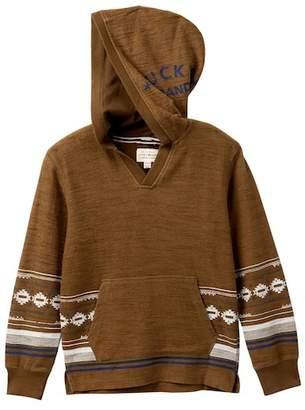 Lucky Brand Long Sleeve Baja Striped Hoodie (Big Boys)