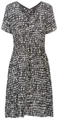 Eileen Fisher Printed Silk Mini Dress