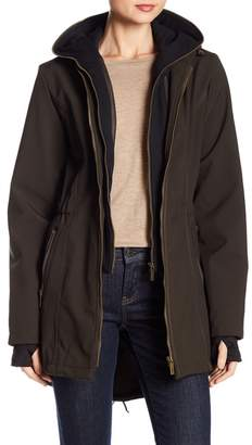 French Connection Dickey Layered Coat w\u002F Hoodie