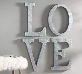 Pottery Barn Hanging Galvanized Letters Wall Art