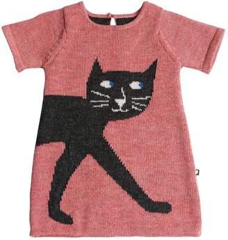 Oeuf Cat Baby Alpaca Knit Dress