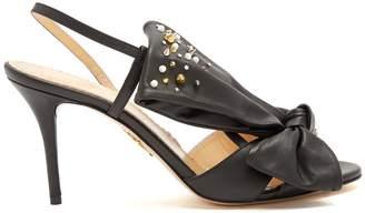 Charlotte Olympia Georgina bow-embellishment leather sandals