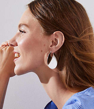 LOFT Wave Hoop Earrings
