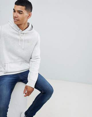 Abercrombie & Fitch icon logo hoodie in Light gray marl