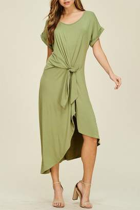annabelle Olive Tie-In-Front Dress