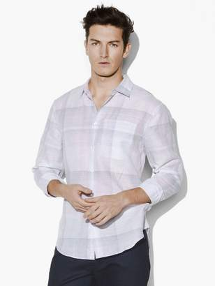 John Varvatos Roll Sleeve Plaid Shirt