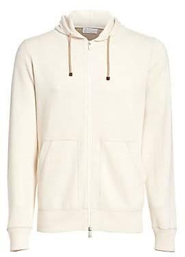 Brunello Cucinelli Men's Hooded Cashmere Cardigan