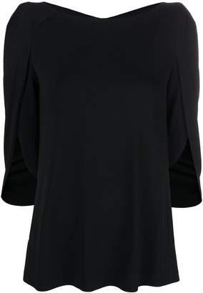 Talbot Runhof cape style blouse
