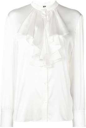 Eleventy ruffle bib shirt
