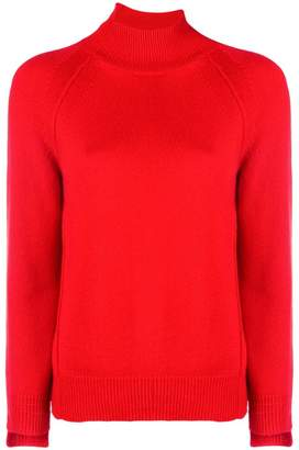 Helmut Lang asymmetric turtleneck sweater