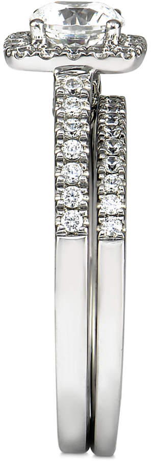 Marchesa Certified Diamond Bridal Set (1-1/4 ct. t.w.) in 18k White Gold, Created for Macy's