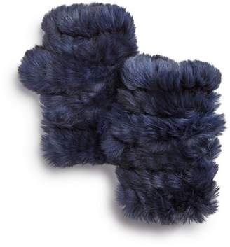 Jocelyn Knit & Rabbit Fur Fingerless Gloves