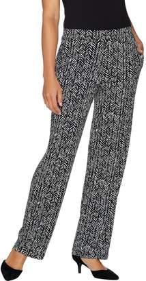 Susan Graver Printed Liquid Knit Pull-On Pants