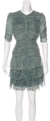 Etoile Isabel Marant Printed Raw-Edge-Trimmed Dress