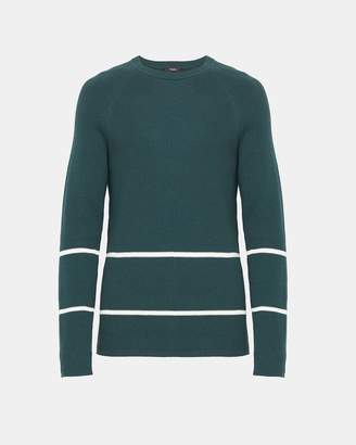 Theory Ribbed Cotton Striped Sweater