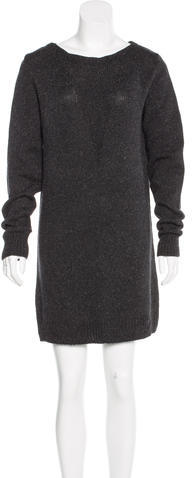 Alexander WangT by Alexander Wang Silk-Blend Sweater Dress