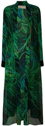 Elie Saab long printed coat