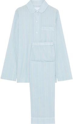 Three J NYC Murphy Striped Cotton-poplin Pajama Set