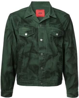 424 Spray Painted Denim Jacket