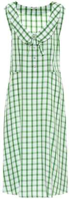 Miu Miu Sleeveless gingham dress