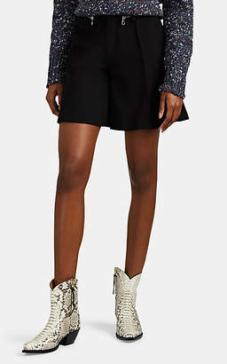 Chloé Women's Zip-Detailed Wool Shorts - Black